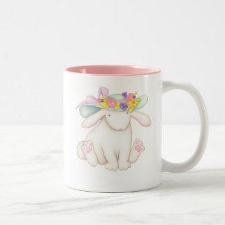Easter Rabbit Two-Tone Coffee Mug