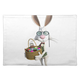 Easter Rabbit with Easter Basket Cloth Placemat
