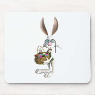 Easter Rabbit with Easter Basket Mouse Pad