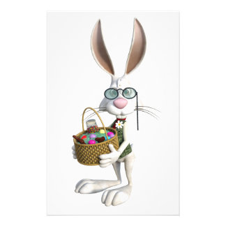 Easter Rabbit with Easter Basket Stationery