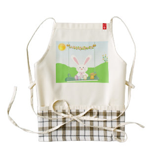 Easter rabbit zazzle HEART apron