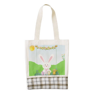 Easter rabbit zazzle HEART tote bag