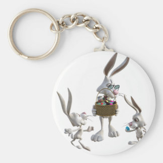 Easter Rabbits at Easter Keychain