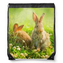 Easter Rabbits Drawstring Backpack
