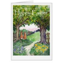 Easter Rabbits Greeting Card