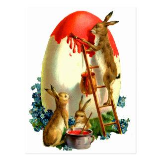 Easter rabbits postcard
