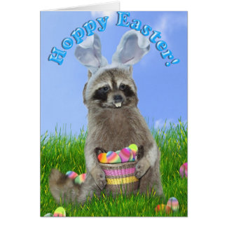 Easter Raccoon Bandit Card
