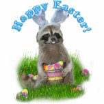 Easter Raccoon Bandit Cut Outs
