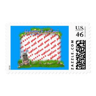 Easter Raccoon Bandit Photo Frame Postage Stamp
