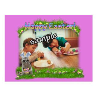 Easter Raccoon Bandit Photo Frame Postcard