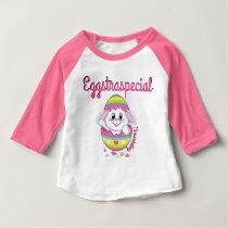 Easter Raglan Spring Bunny Egg Girl Eggstraspecial Baby T-Shirt