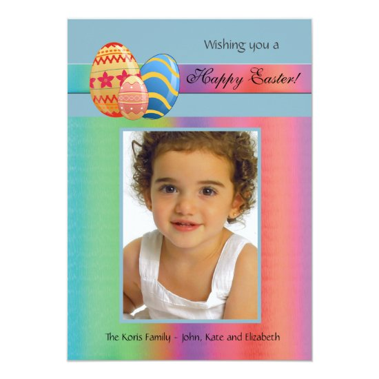 Easter Rainbow Photo Card
