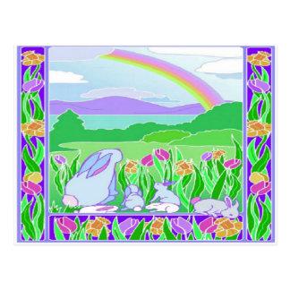 Easter Rainbow Postcard