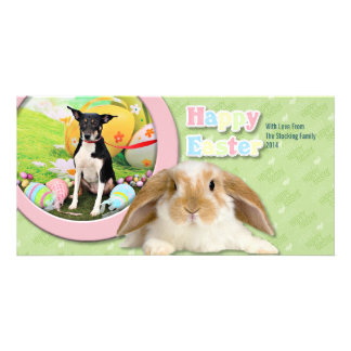 Easter - Rat Terrier - Georgia Card