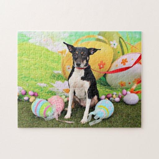 Easter - Rat Terrier - Georgia Puzzles