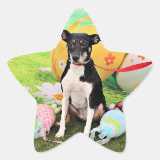 Easter - Rat Terrier - Georgia Star Sticker