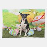 Easter - Rat Terrier - Georgia Towel