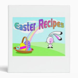 Easter Recipes Vinyl Binders