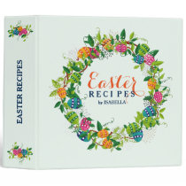 Easter Recipes Colorful Easter Eggs Wreath Binder