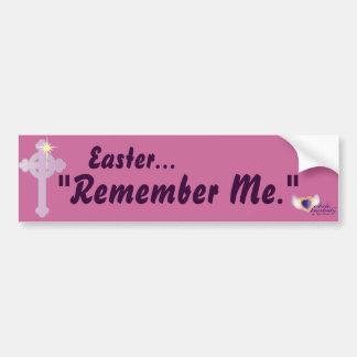 Easter Remember Me-Customize Car Bumper Sticker
