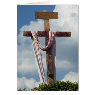 Easter Ressurection Cross Risen As He Said Card