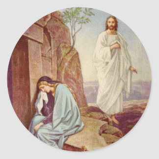 Easter Resurrection Day Classic Round Sticker