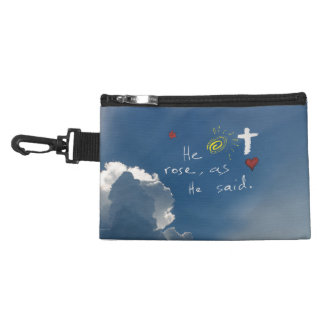 Easter Resurrection He Is Risen Jesus Rose Accessory Bags
