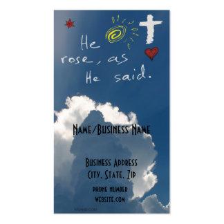 Easter Resurrection He Is Risen Jesus Rose Business Card