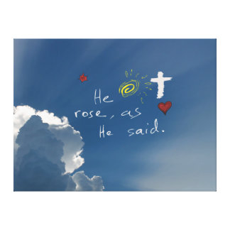Easter Resurrection He Is Risen Jesus Rose Canvas Print