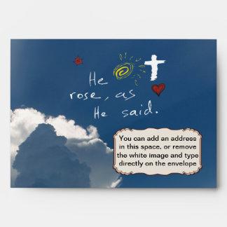 Easter Resurrection He Is Risen Jesus Rose Envelopes