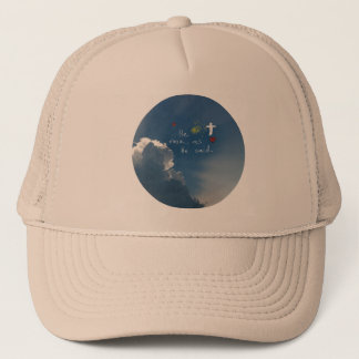 Easter Resurrection He Is Risen Jesus Rose Trucker Hat