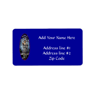 Easter: Resurrection of Christ stained glass Address Label