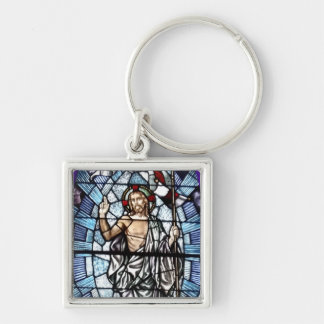 Easter: Resurrection of Christ stained glass Keychain