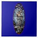 Easter: Resurrection of Christ stained glass Tile