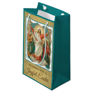 Religious easter gift bags zazzle easter resurrection of jesus angels small gift bag negle Image collections