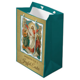 Religious easter gift bags zazzle easter resurrection pascha religious jesus angels medium gift bag negle Choice Image
