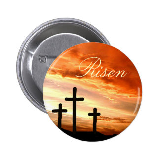 Easter risen 2 inch round button