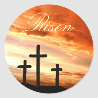 Easter Risen Classic Round Sticker