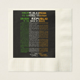 Easter Rising Centenary Coined Luncheon Napkins Coined Luncheon Napkin