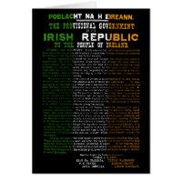 Irish proclamation 1916 gifts on zazzle easter rising proclamation of the irish republic negle Images