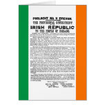 Easter Rising Proclamation of the Irish Republic Greeting Card