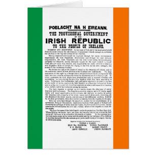 Irish proclamation 1916 gifts on zazzle easter rising proclamation of the irish republic card negle Images
