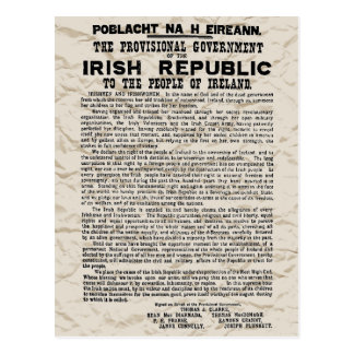 Easter Rising Proclamation of the Irish Republic Postcard