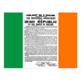 Easter Rising Proclamation of the Irish Republic Post Card