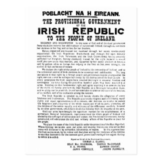 Easter Rising Proclamation of the Irish Republic Post Cards