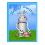 Easter Robo-x9 w/Scenic Background & Text Postcard