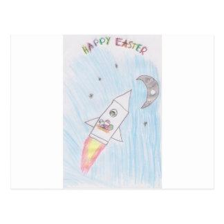 Easter rock postcard