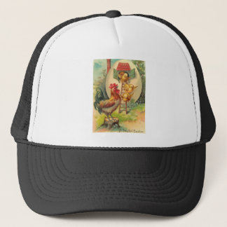 Easter Rooster Chick Egg Birdhouse Trucker Hat