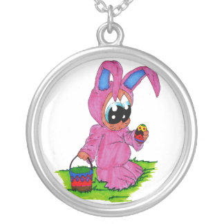 easter round pendant necklace
