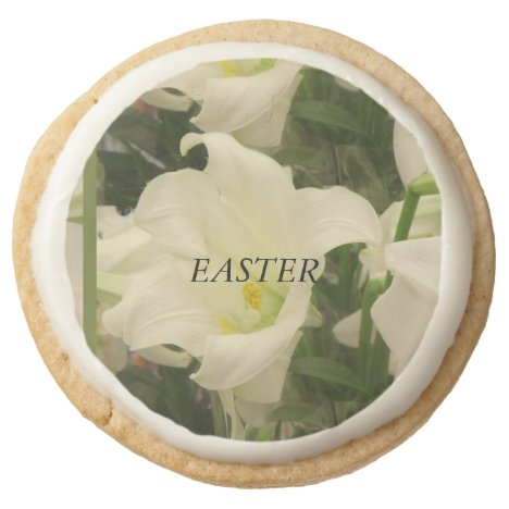 Easter Round Shortbread Cookie